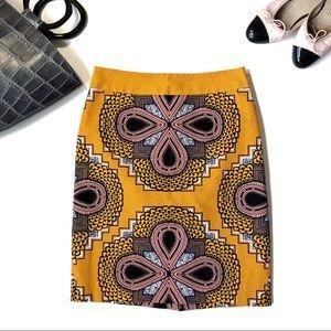 [Anthropologie] Maeve Orange and Pink Print Skirt